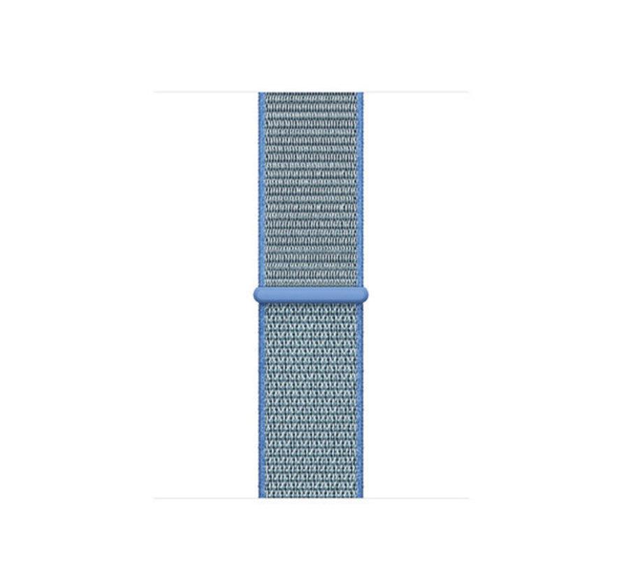 Strap-it® Apple Watch SE nylon band (blauw)