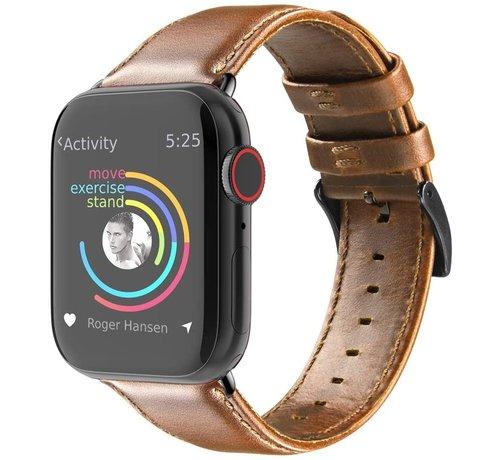 Strap-it® Strap-it® Apple Watch leren bandje (bruin)