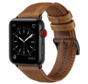 Strap-it® Apple Watch SE leren bandje (bruin)