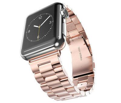 Strap-it® Strap-it® Apple Watch SE stalen band (rosé goud)