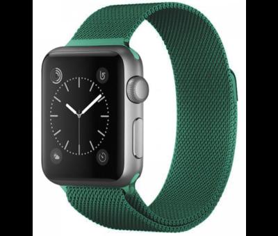 Strap-it® Strap-it® Apple Watch SE Milanese band (groen)