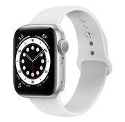 Strap-it® Apple Watch 6 silicone band (wit)