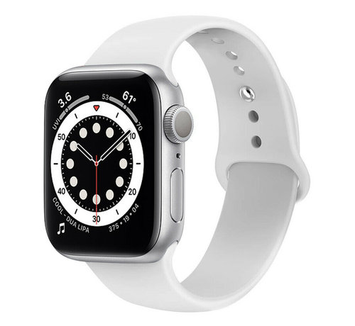Strap-it® Strap-it® Apple Watch 6 silicone band (wit)
