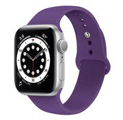 Strap-it® Apple Watch 6 silicone band (paars)