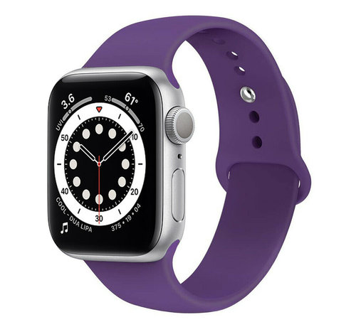 Strap-it® Strap-it® Apple Watch 6 silicone band (paars)