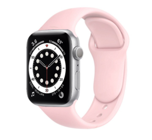 Strap-it® Strap-it® Apple Watch 6 silicone band (roze)