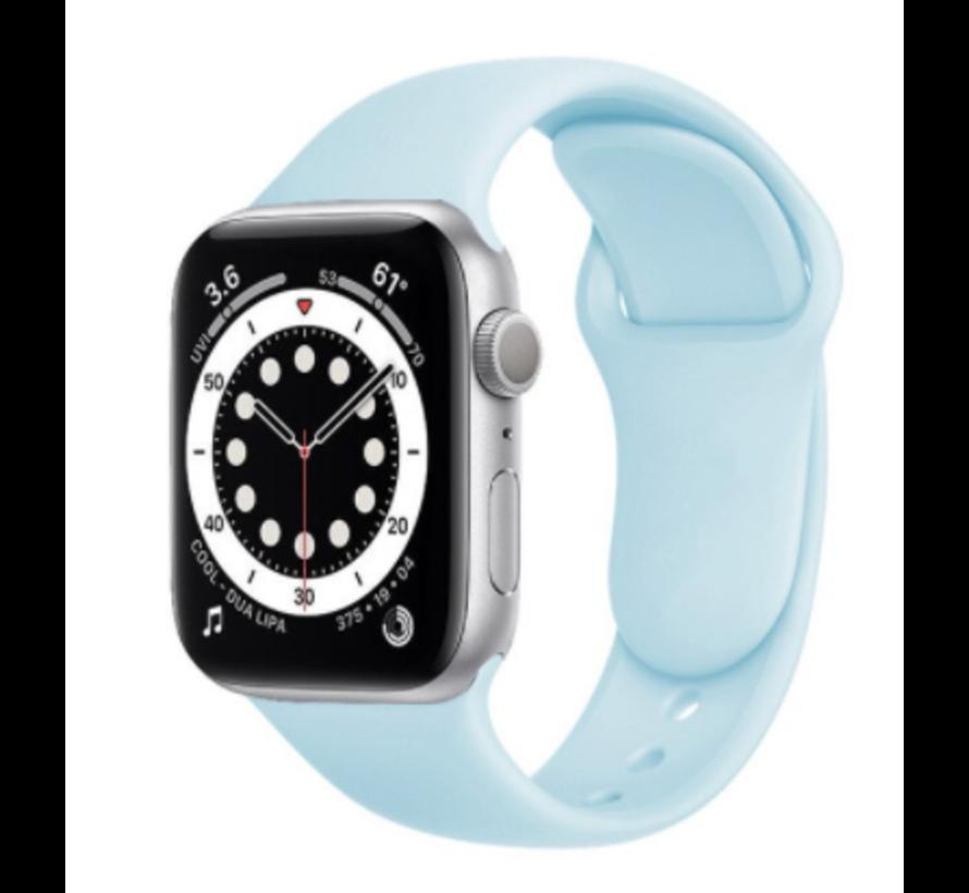 Strap-it® Apple Watch 6 silicone band (lichtblauw)
