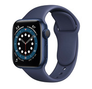 Strap-it® Apple Watch 6 silicone band (donkerblauw)