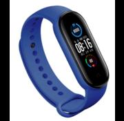Strap-it® Xiaomi Mi band 5 siliconen bandje (blauw)