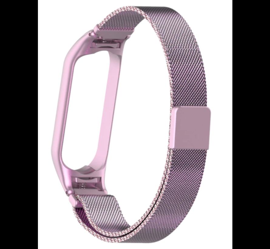 Strap-it® Xiaomi Mi band 5 Milanese band (rosé pink)