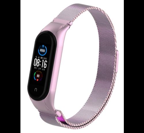 Strap-it® Strap-it® Xiaomi Mi band 5 Milanese band (rosé pink)