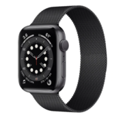Strap-it® Apple Watch 6 Milanese band (zwart)