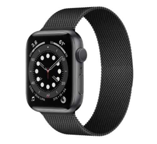 Strap-it® Strap-it® Apple Watch 6 Milanese band (zwart)