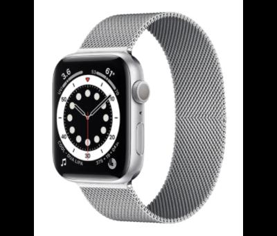 Strap-it® Strap-it® Apple Watch 6 Milanese band (zilver)