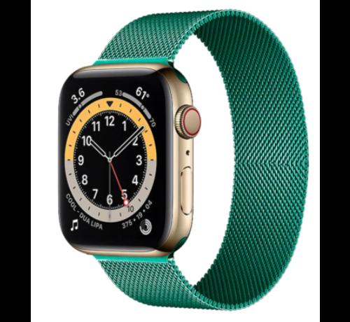 Strap-it® Strap-it® Apple Watch 6 Milanese band (groen)