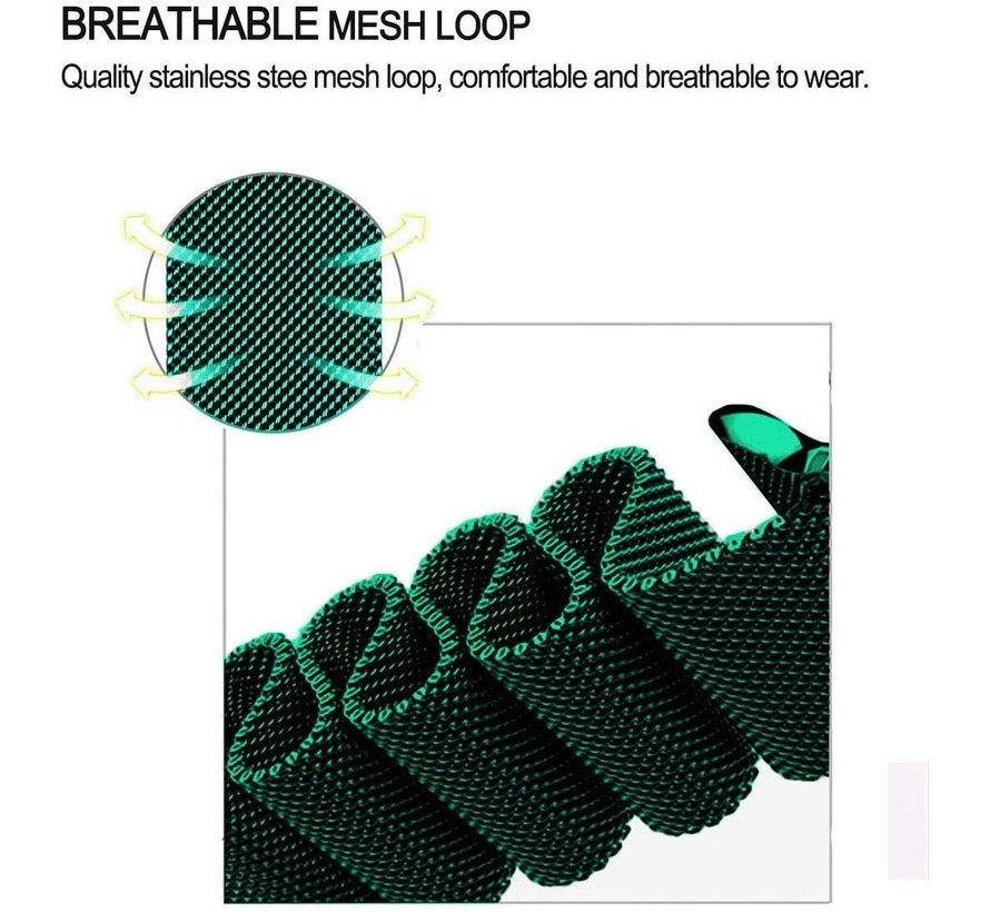 Strap-it® Apple Watch 6 Milanese band (groen)