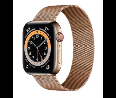 Strap-it® Strap-it® Apple Watch 6 Milanese band (rosé goud)
