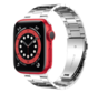 Strap-it® Apple Watch 6 stalen band (zilver)