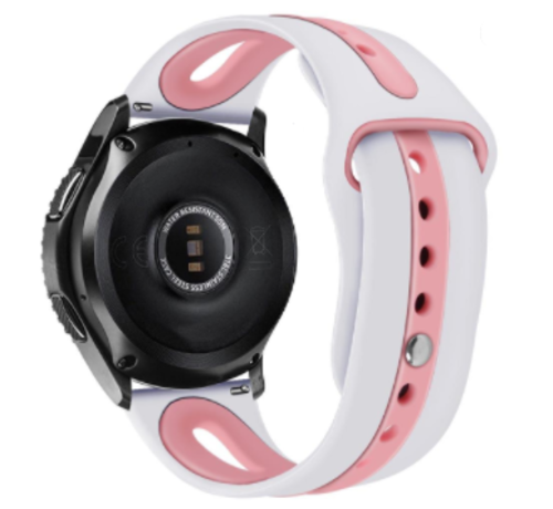 Strap-it® Strap-it® Garmin Vivoactive 4 duo sport band - 45mm - wit/roze