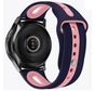 Strap-it® Garmin Vivoactive 4 duo sport band - 45mm - donkerblauw/roze
