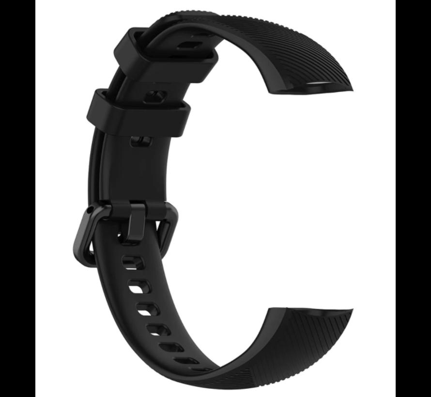 Strap-it® Honor band 4 / 5 siliconen bandje (zwart)