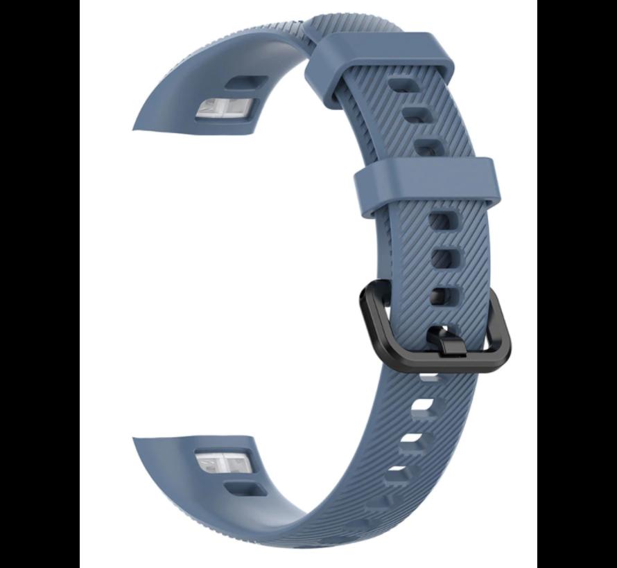 Strap-it® Honor band 4 / 5 siliconen bandje (grijsblauw)
