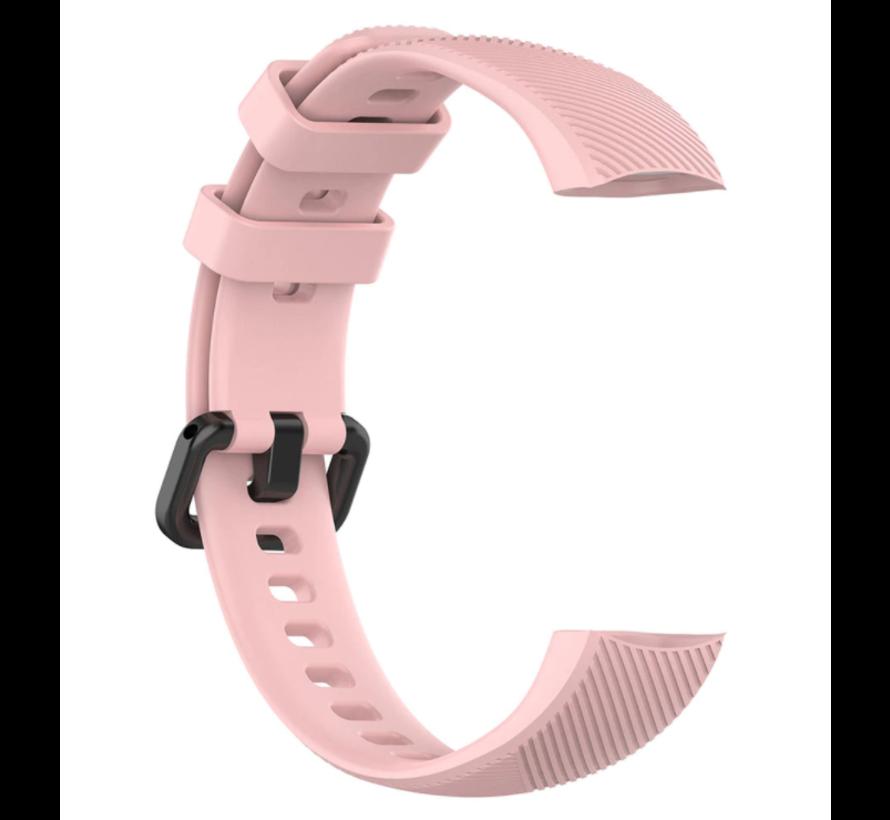Strap-it® Honor band 4 / 5 siliconen bandje (roze)