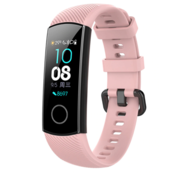 Strap-it® Honor band 4 / 5 siliconen bandje (roze)
