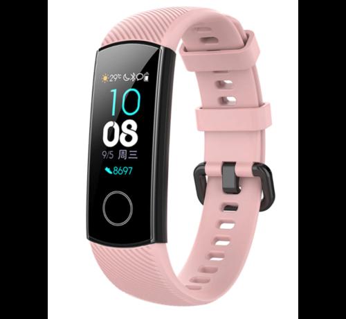Strap-it® Strap-it® Honor band 4 / 5 siliconen bandje (roze)