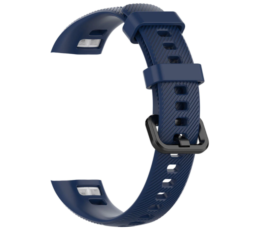 Strap-it® Honor band 4 / 5 siliconen bandje (donkerblauw)