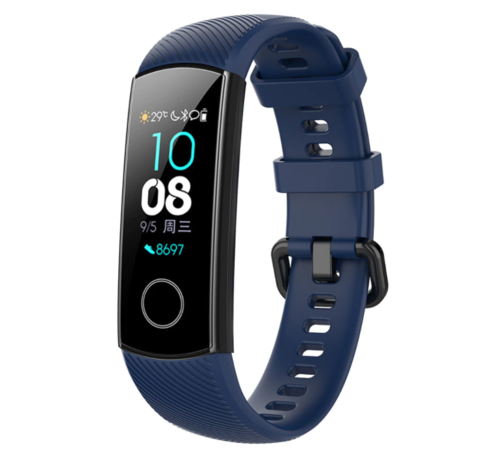 Strap-it® Strap-it® Honor band 4 / 5 siliconen bandje (donkerblauw)