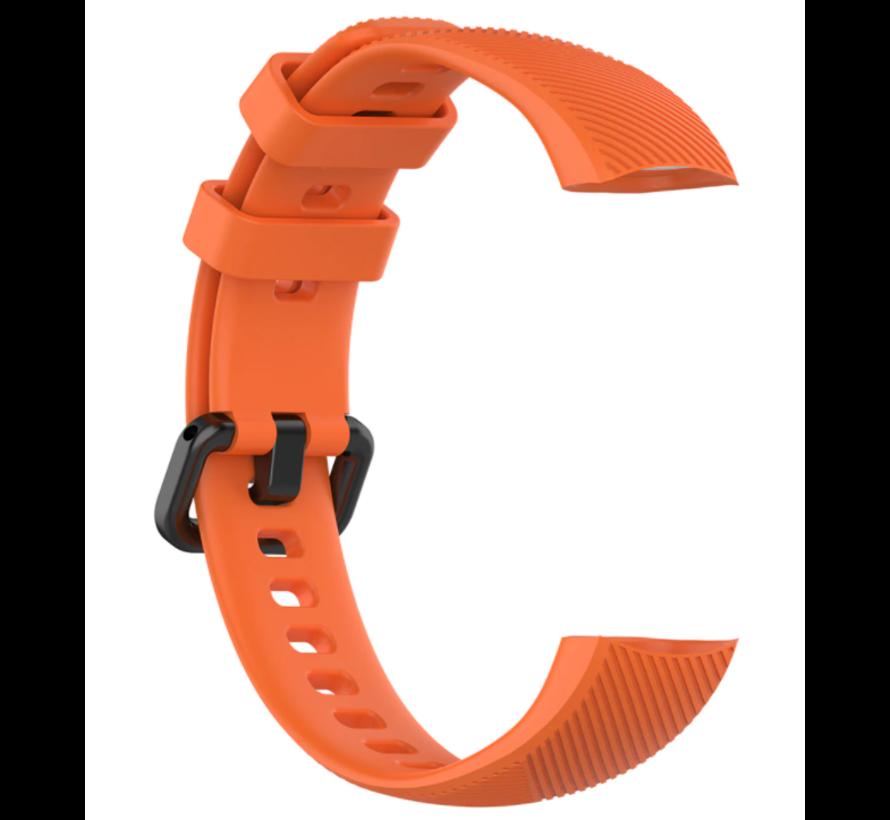 Strap-it® Honor band 4 / 5 siliconen bandje (oranje)