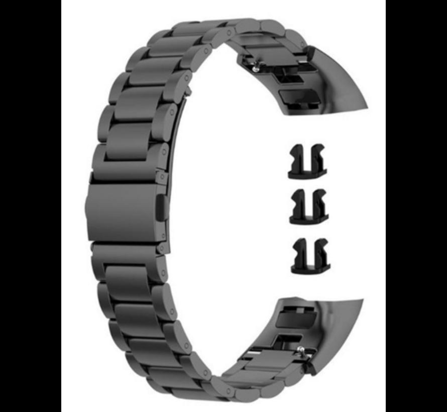 Strap-it® Honor band 4 / 5 stalen band (zwart)