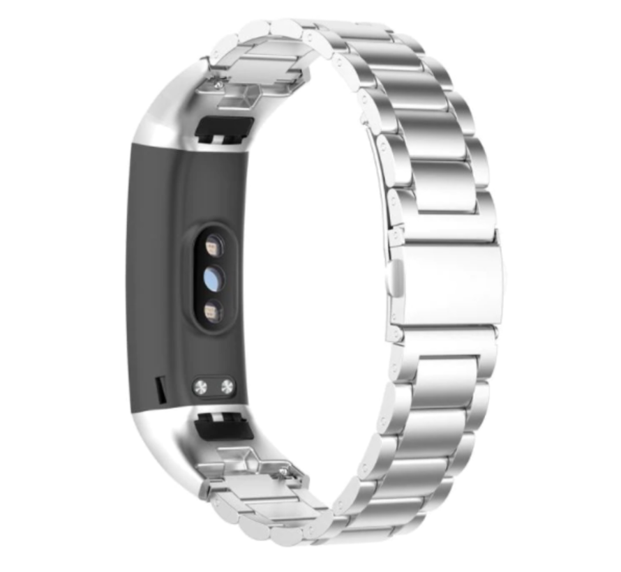 Strap-it® Honor band 4 / 5 stalen band (zilver)