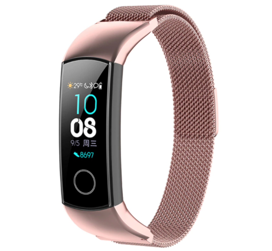 Strap-it® Honor band 4 / 5 Milanese band (rosé pink)
