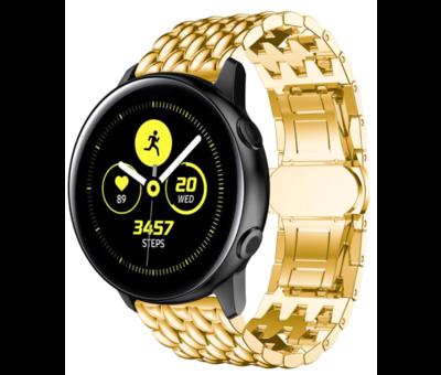 Strap-it® Strap-it® Samsung Galaxy Watch 41mm/42mm stalen draak band (goud)