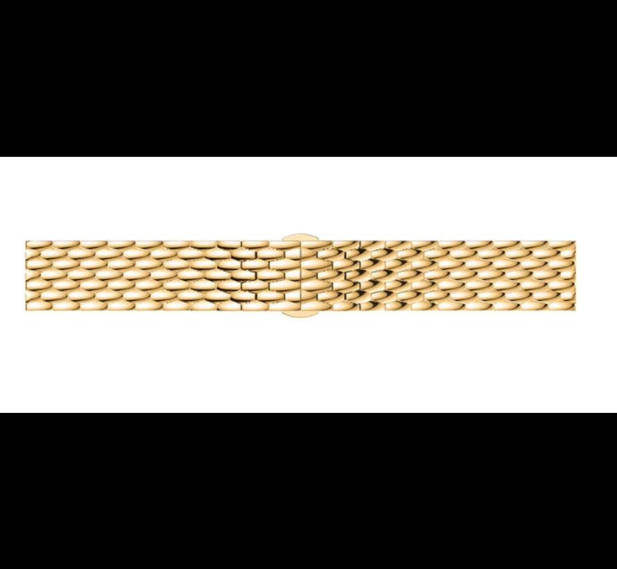 Strap-it® Samsung Galaxy Watch 41mm/42mm stalen draak band (goud)