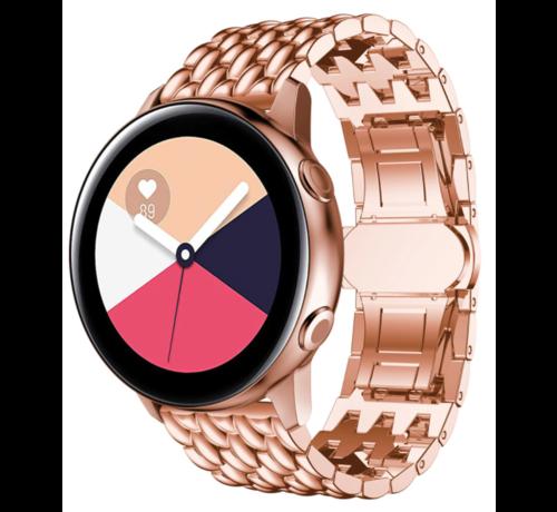 Strap-it® Strap-it® Samsung Galaxy Watch 41mm/42mm stalen draak band (rosé goud)