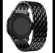 Strap-it® Garmin Vivoactive 4 stalen draak band - 45mm - zwart