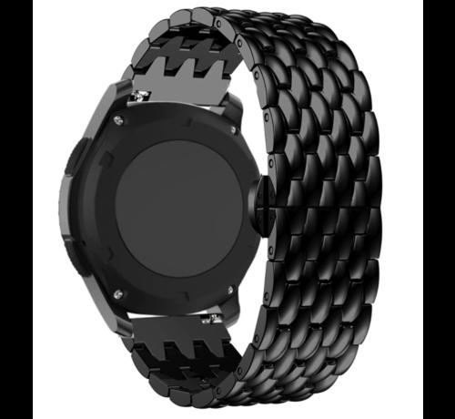 Strap-it® Strap-it® Garmin Vivoactive 4 stalen draak band - 45mm - zwart