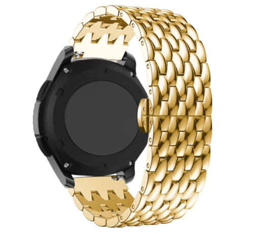 Strap-it® Strap-it® Garmin Vivoactive 4 stalen draak band - 45mm - goud