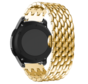 Strap-it® Garmin Vivoactive 4 stalen draak band - 45mm - goud
