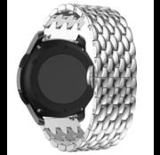 Strap-it® Garmin Vivoactive 3 stalen draak band (zilver)