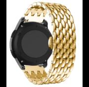 Strap-it® Garmin Vivoactive 3 stalen draak band (goud)