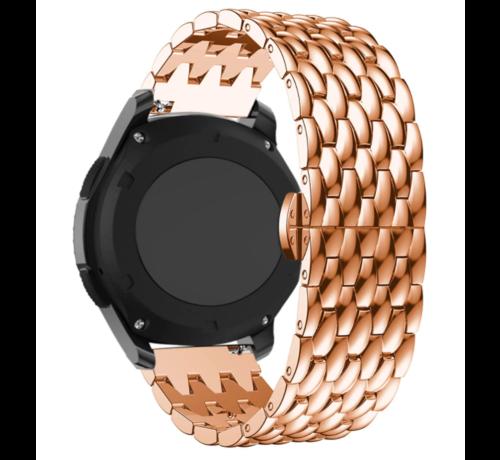 Strap-it® Strap-it® Garmin Vivoactive 3 stalen draak band (rosé goud)