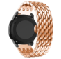 Strap-it® Garmin Vivomove HR stalen draak band (rosé goud)