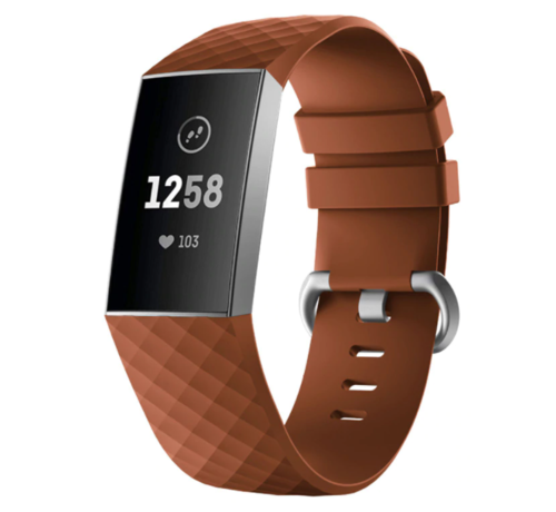 Strap-it® Strap-it® Fitbit Charge 4 silicone band (bruin)
