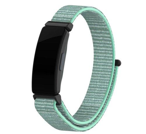 Strap-it® Strap-it® Fitbit Inspire nylon bandje (aqua)