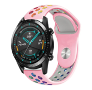 Strap-it® Huawei Watch GT sport band (kleurrijk roze)