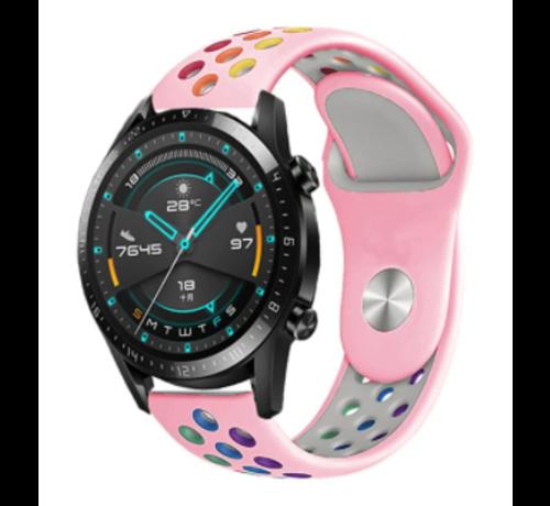 Strap-it® Strap-it® Huawei Watch GT sport band (kleurrijk roze)